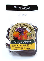 Harry & David Black Licorice Stix Package