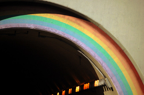 under the rainbow tunnel