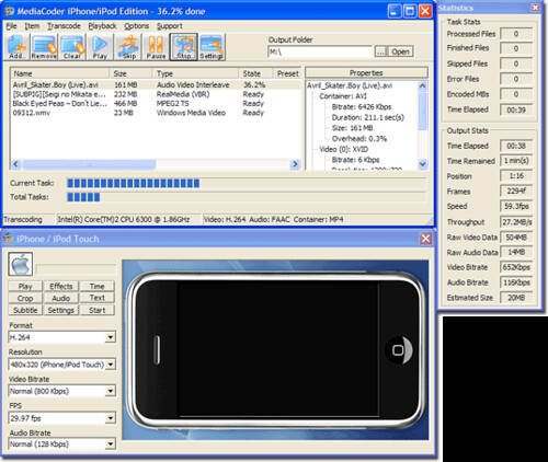 mediacoder iphone_edition