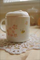 sweet morning (bunbunlife) Tags: japan japanese bee kawaii mug sakura espresso cappuccino momokawa