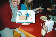 Burnaby Birthday 1992-0506 (CanadaGood) Tags: birthday family blue red people white canada color colour green night analog person friend bc britishcolumbia slidefilm burnaby 1992 gregory nineties printfilm seattlefilmworks canadagood sfwdigital