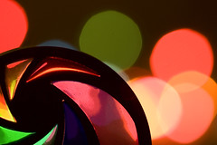 ARCO IRIS BOKEH (Karla Fortuny) Tags: light abstract colors rainbow bokeh experiment colores dots arco desenfocada irirs