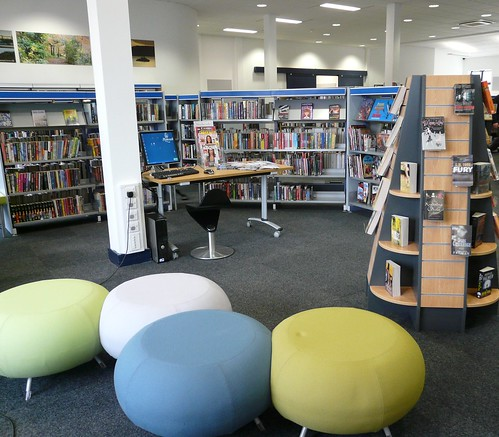 Opening day at Plymstock Library - Teen area