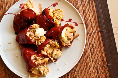 Piquillo Peppers stuffed w/Artichokes, <a href=