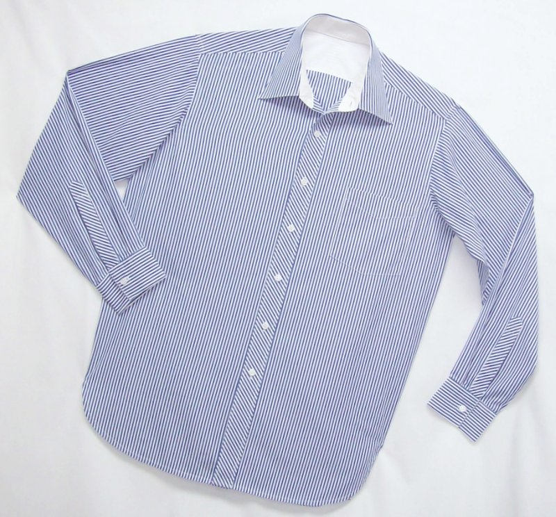 Blue Stripe men's Shirt by Pamela Erny