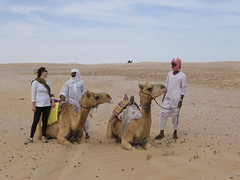 Crossing Qatar - Camel Guys (jeff holte) Tags: jeff crossing desert dune ellie 09 holte qatar
