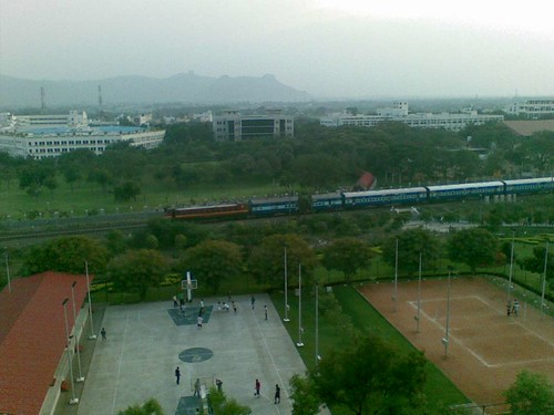 view from H block mens hostel