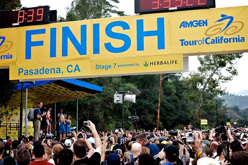 Finish Line And Podium