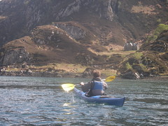 Loch Moidart kayak the channel to the Sound of Arisaig, a house on Eilean Shona
