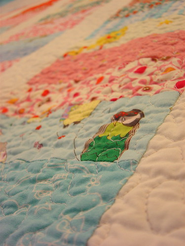 Baby Girl Coin Quilt - Detail