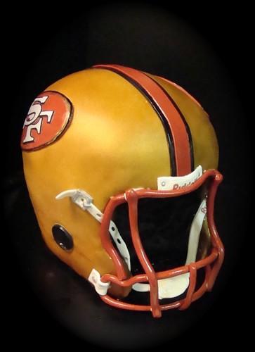 49er's football helmet cake