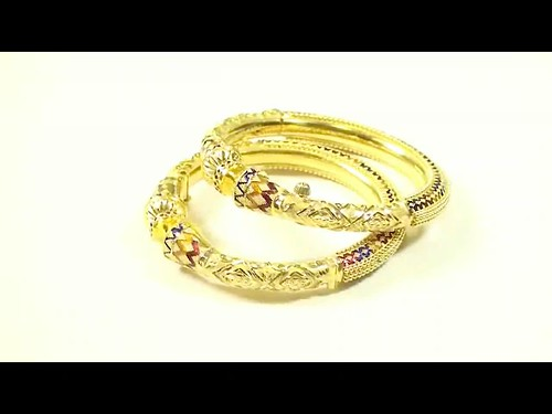 67.50g 22kt Gold Bangles - Indian Jewelry - 100082