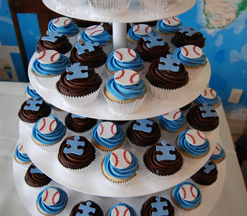 Baseball Wives Autism Speaks charity event cupcakes