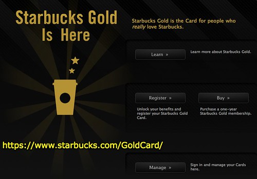 Starbucks Gold | For People Who Really Love Starbucks.