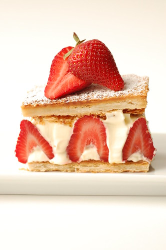 Strawberry-lemon cream mille feuille