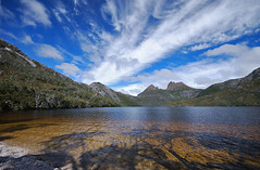 Cradle mountain. (dan/fromtas) Tags: blue light sky cloud mountains fall nature water clouds forest landscape nationalpark nikon hiking country inspired sigma australia wideangle april tasmania polarizer 2009 pro1 manfrotto hoya cradlemountain cokin sigma1020 worldheritagearea d80 amazingamateur platinumheartaward addictedtophotograph