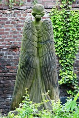 2008-05-22 Spread your wings ([ henning ]) Tags: sculpture friedhof brick green abandoned monument grave graveyard statue stone wall digital standing canon germany garden eos 350d rebel xt sadness dc moss wings memorial mourning decay bricks cementerio tomb tombstone gothic north goth cologne sigma ground kln os sensual figure cherub burial nrw despair stony lichen cemitrio remembrance sensuality statuary 2008 sorrow koeln nordrheinwestfalen rheinland henning guardian grief mourn verlassen arcangel cimetire commemoration seraph melaten 18200mm desparate rhinewestphalia cimiteri bereavement mhlinghaus muehlinghaus