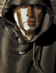hood up ^ (TheWalkinMan) Tags: portrait self hood supershot daarklands nikonsunglassesscoredatthethriftstore