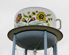 Coffee Cup Water Tower - Stanton, Iowa (Don3rdSE) Tags: county bicycle canon bicycling drive coffeecup watertower swedish iowa powershot ia actress ragbrai april roads stanton blueribbonwinner g9 bej abigfave theunforgettablepictures canong9 don3rdse