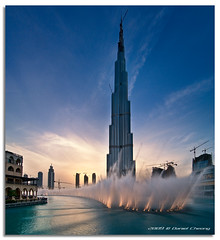 Burj Dubai Fountains (DanielKHC) Tags: sunset digital interestingness high nikon dubai dynamic dusk uae explore khalifa fountains range fp frontpage dri hdr blending d300 dynamicrangeincrease burjdubai dubaimall danielcheong danielkhc vertorama tokina1116mmf28 gettyimagesmeandafrica1