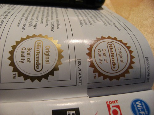 Nintendo Seal of Quality test