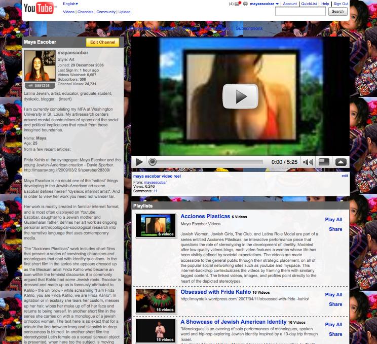 maya escobar youtube page