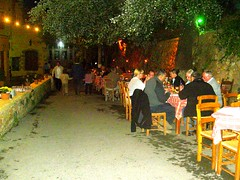 al fresco dining venetian harbour old port hania chania