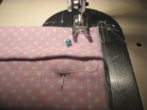 Porta-lenços: Última costura