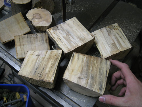 European olive natural edge bowl blanks