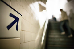 The Test (ole) Tags: blur paris france stairs europe dof bokeh background mtro corridor silouhette chatelet explored