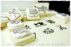 Maemod 01 (happily.happens) Tags: stamps sewing crochet scissors pincushion needles sewingmachine amigurumi cushion rubberstamps setamigurumicrochetcutezakkawitchrubberstampshandcarvedhandcarvedstampscustomtag