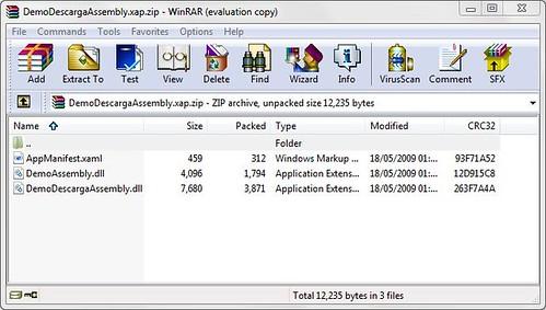Archivo XAP con DLL incluido