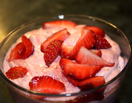 Balsamic Strawberry Mousse 1