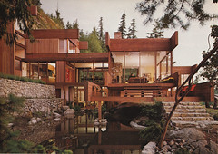 Graham House, West Vancouver, by Arthur Erickson  - demolished 2007 (ouno design) Tags: wood house canada vancouver japanese wooden exterior interior demolition canadian cedar pacificnorthwest decor demolished stupidity westvancouver arthurerickson ezrastoller grahamhouse westcoastmodernism