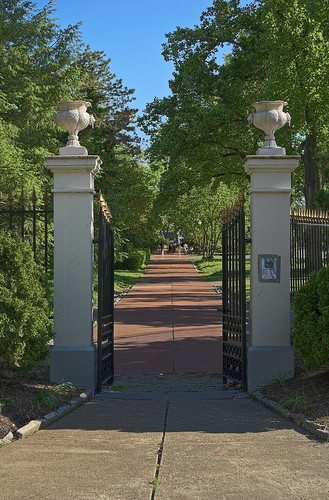 Tower Grove Park, in Saint Louis, Missouri, USA - north gate