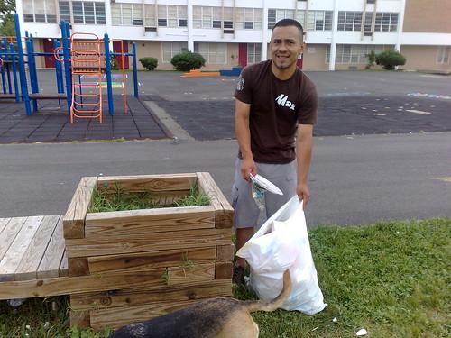 Picking Up Trash @ Clark School