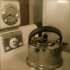 Times Past 021:365 (The Real Estreya) Tags: clock oven antique stove missouri teapot frigidaire electricoutlet
