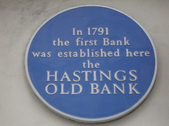 Photo of Hastings Old Bank blue plaque