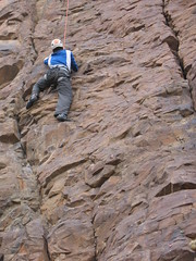 Zack Climbing Hell Boy (5.8+)