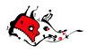 Whale - ship - Merkabah (Camille Hart) Tags: red white black color art ship whale monada transmedia monade monad monism monismo