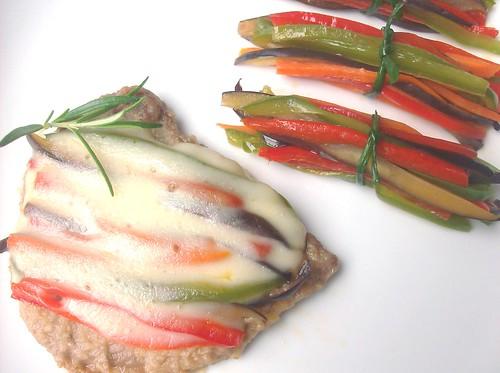 Scaloppine alle verdure e Mazzetti di verdure colorati