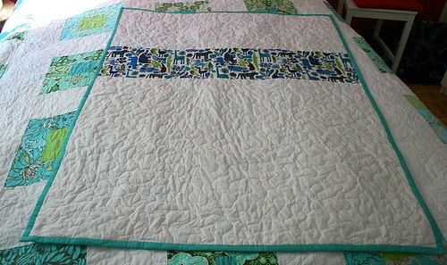Coin stack baby quilt - back