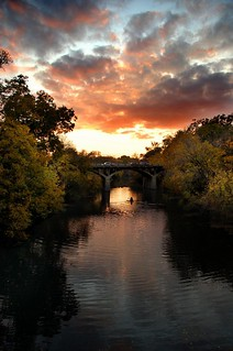 Barton Creek/Barton Springs Bridge at Dusk