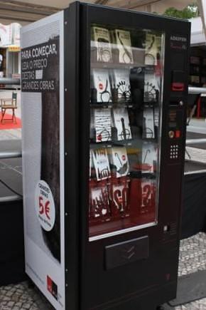 máquina de venda de livros