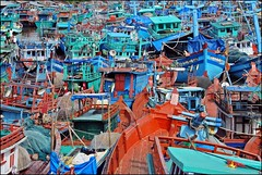 Phu Quoc, Vietnam (Mind Trip) (Colin Roohan) Tags: ocean trip colors colin boats island interestingness fishing all no or  vietnam rights sharing written without usage reserved permission fishingvillage phuquoc including allowed copying foammagazine boatscene roohan