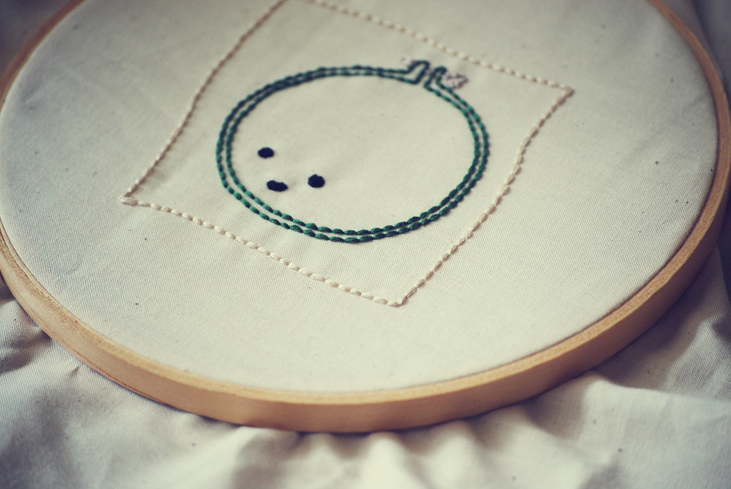 Stretched Embroidery Hoop