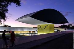 "Niemeyer Museum / Curitiba's ""Eye"" (Carlos Alkmin) Tags: brazil tree eye paraná niemeyer brasil museum architecture museu decorative curitiba olho araucaria oscarniemeyer centrocívico decorativa arquietura gettyimagesbrasil"