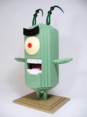 "03 (""Big Daddy"" Nelson) Tags: sculpture lego spongebobsquarepants plankton"