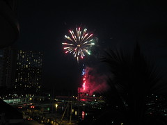 Friday night fireworks from the Hilton straight onto our lanai, it seemed!