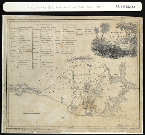 Map of the Settlements in New South Wales, 1817